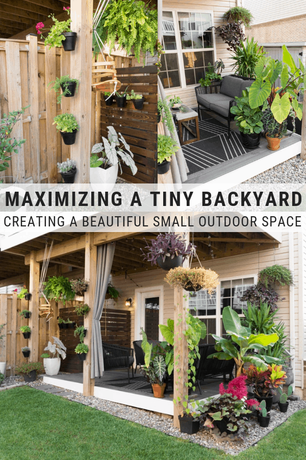 Small Townhouse Patio Ideas And My Gorgeous Tiny Backyard In 2020 Small Backyard Design Small Backyard Patio Small Backyard Landscaping