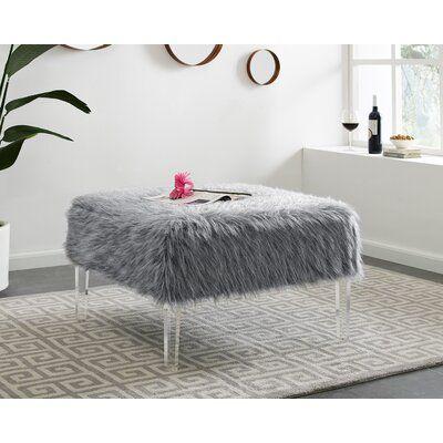 Mercer41 Tobler Ottoman Upholstery Colour Grey Ottoman
