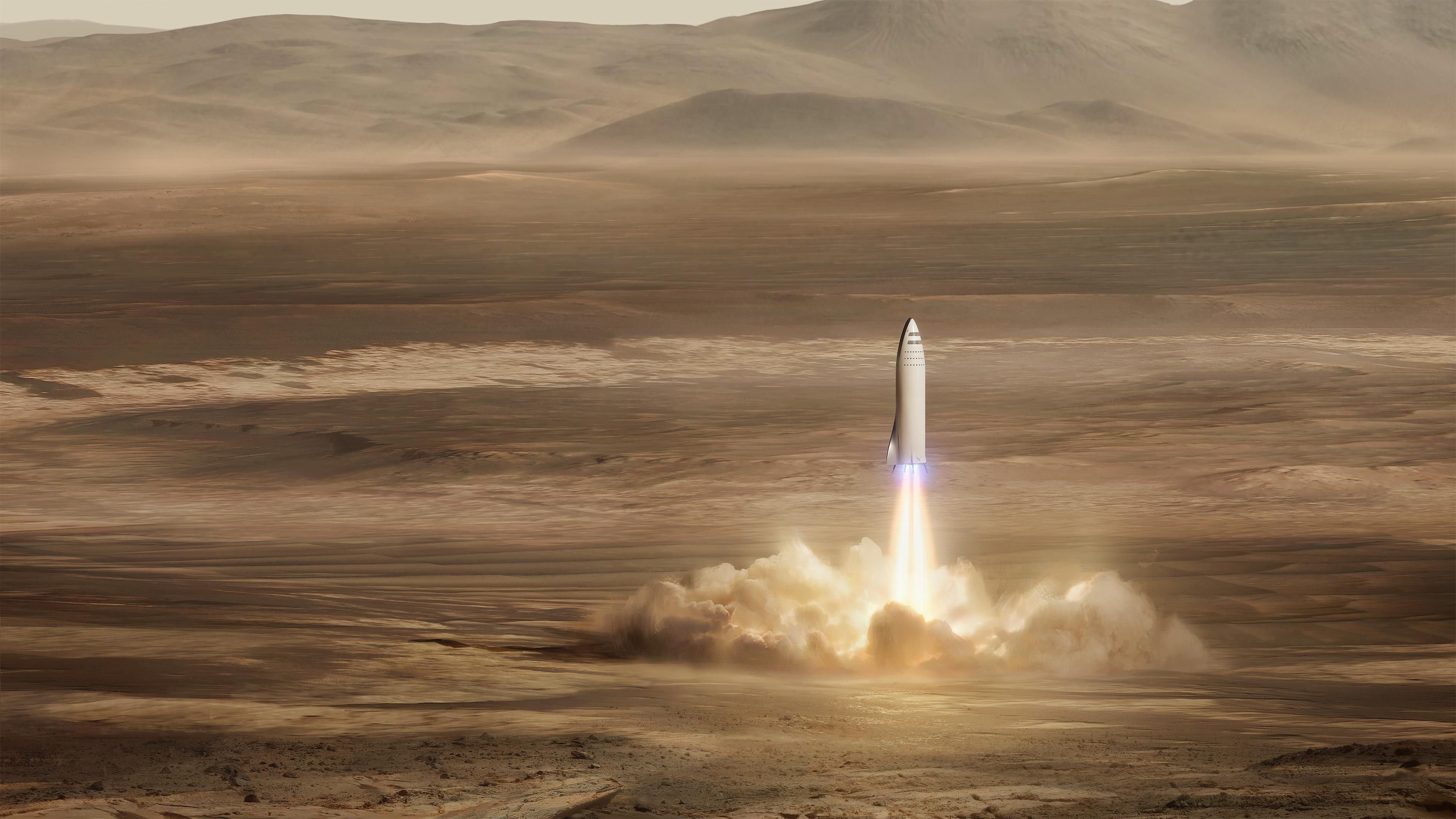 Bfr Mars Mission Spacex Spacex Mission To Mars Elon Musk Rocket