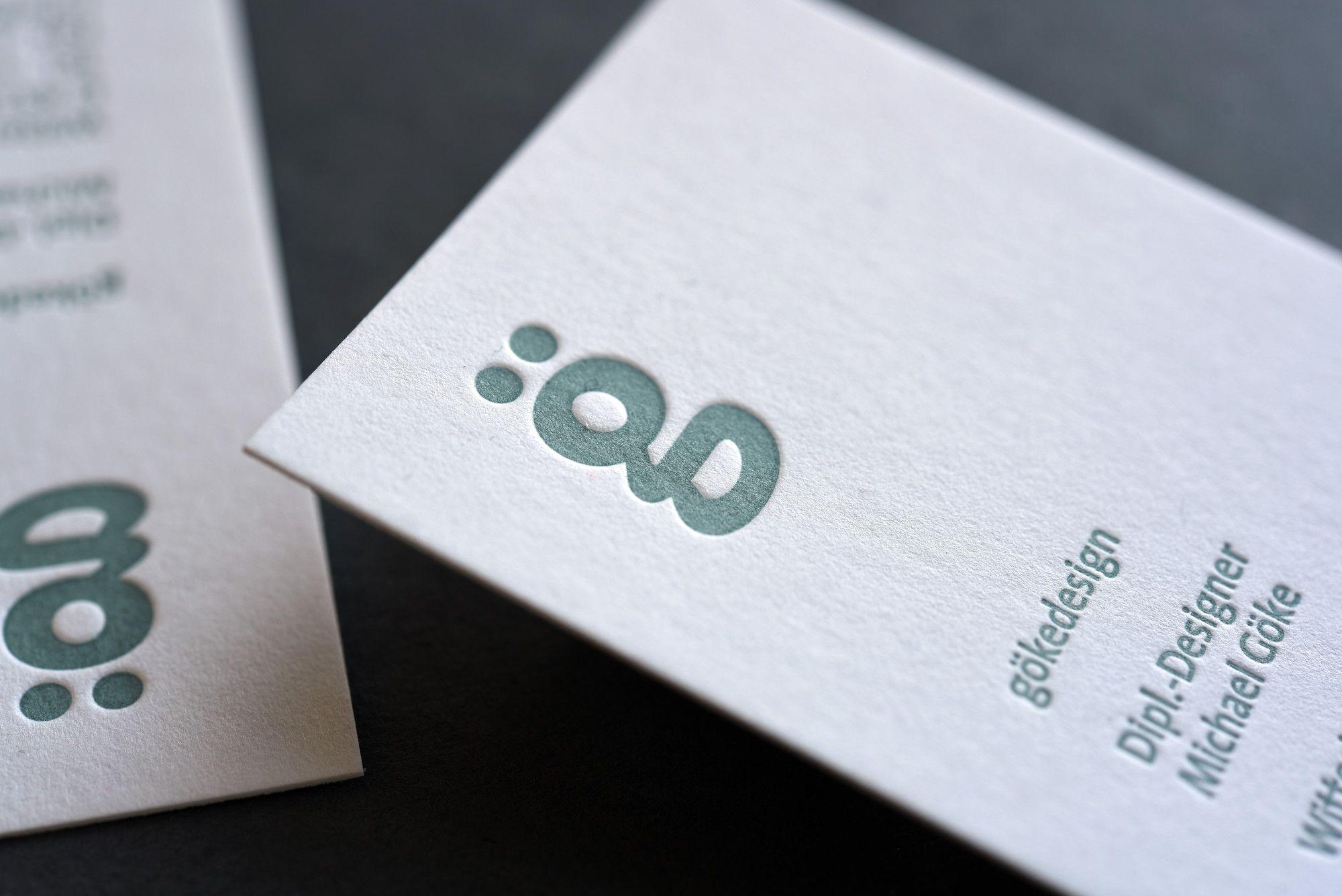 Letterpress Visitenkarten Für Www Gökedesign De Gedruckt