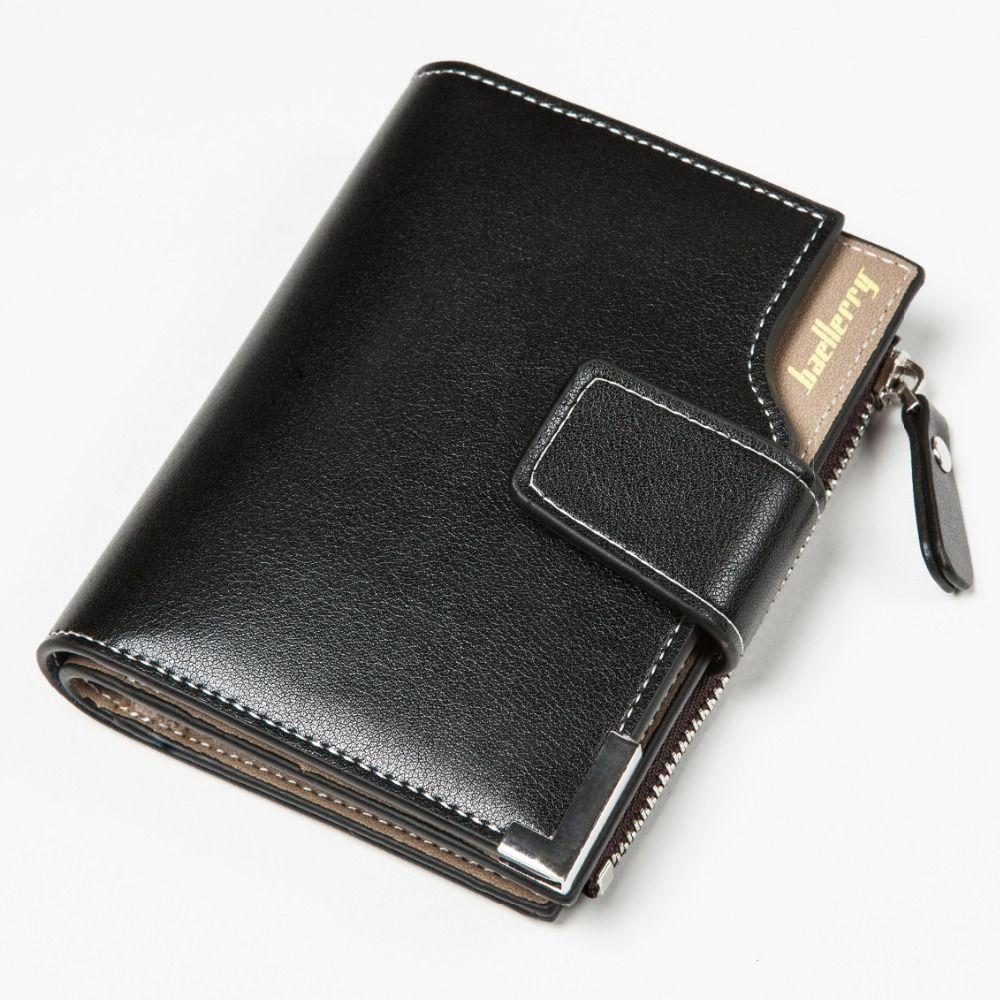 cbac5d89b Short Men Wallets PU+Genuine Leather Wallet Men Clutch Bag Coin Purse Card  Holder Zipper Hasp Male Wallet #Affiliate