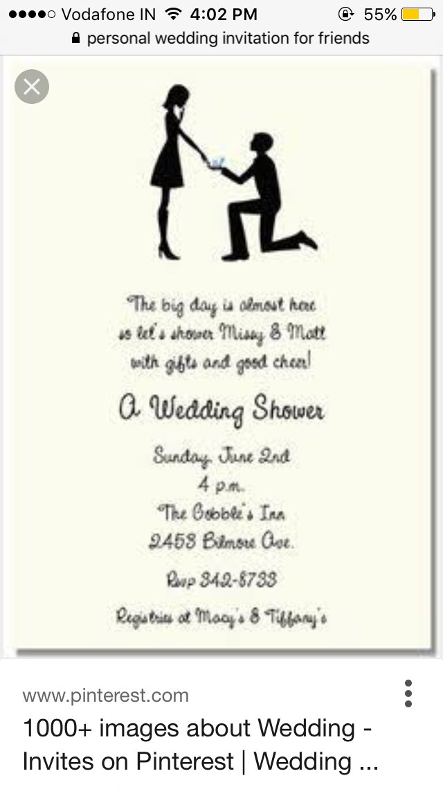 Elegant Wedding Invitations Bridal Shower Invitation Wording Couples