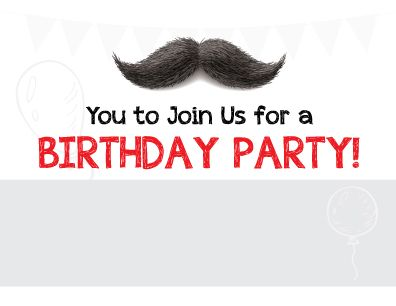 free moustache birthday invitation printable - Mustache Party Invitations
