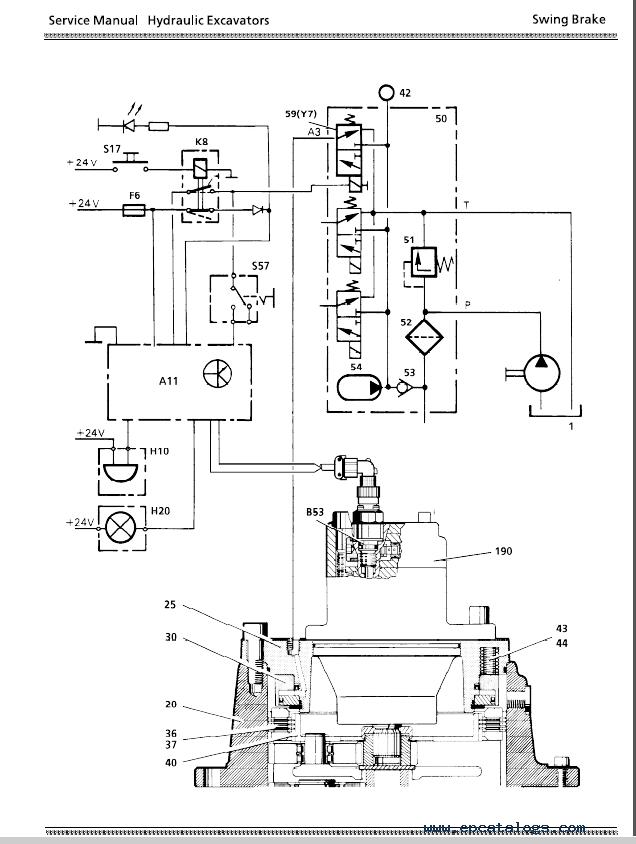 Pdf Excavator Hydraulic System B Litronic A934 Hydraulic A954 Pdf Liebherr Excavator Hd Hydraulic Systems Hydraulic Excavator