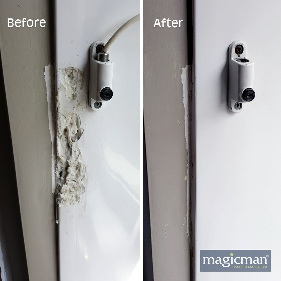 Magicman Can Repair Upvc Window Door Or Conservatory Frames Inside Or Out Magicman Technicians Can Match The Colour Window Frame Repair Door Repair Repair