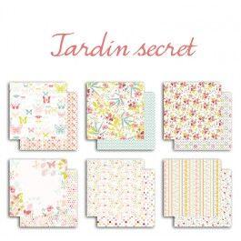 6 feuilles de papier recto-verso – 30,5x30,5cm – Jardin Secret