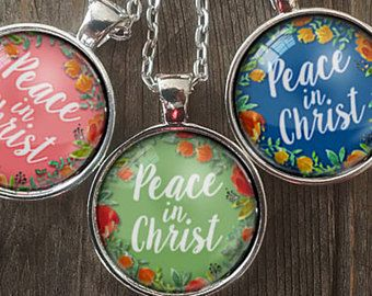 2018 mutual theme (Peace in Christ) Glass Pendant, Necklaces, new