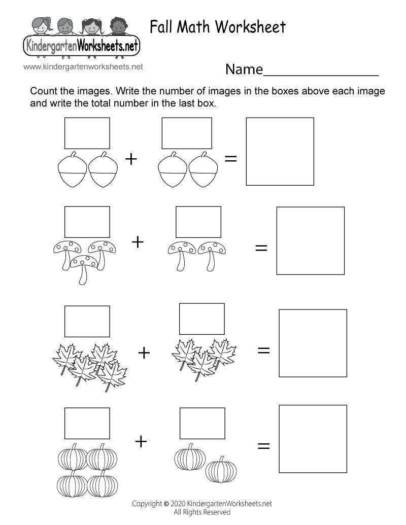 Fall Math Worksheet For Kindergarten Free Printable Digital Pdf In 2020 Fall Math Math Worksheet Kindergarten Math Worksheets [ 1035 x 800 Pixel ]