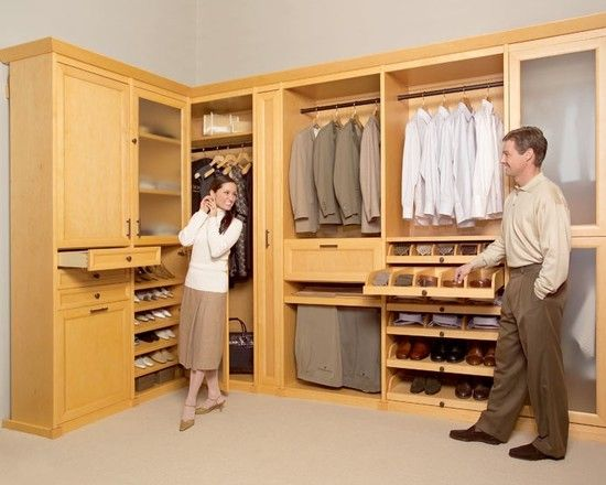 Traditional Walk In Wardrobe Designs With Modern Wooden Cabinets Drawers And Shelves Also Men