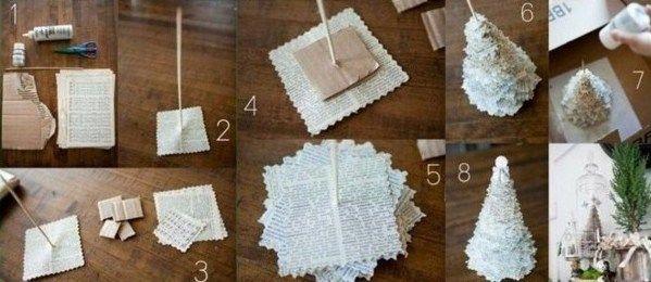 2 Astuces Bricolage Pour Faire Un Mini Sapin En Papier | Projets À