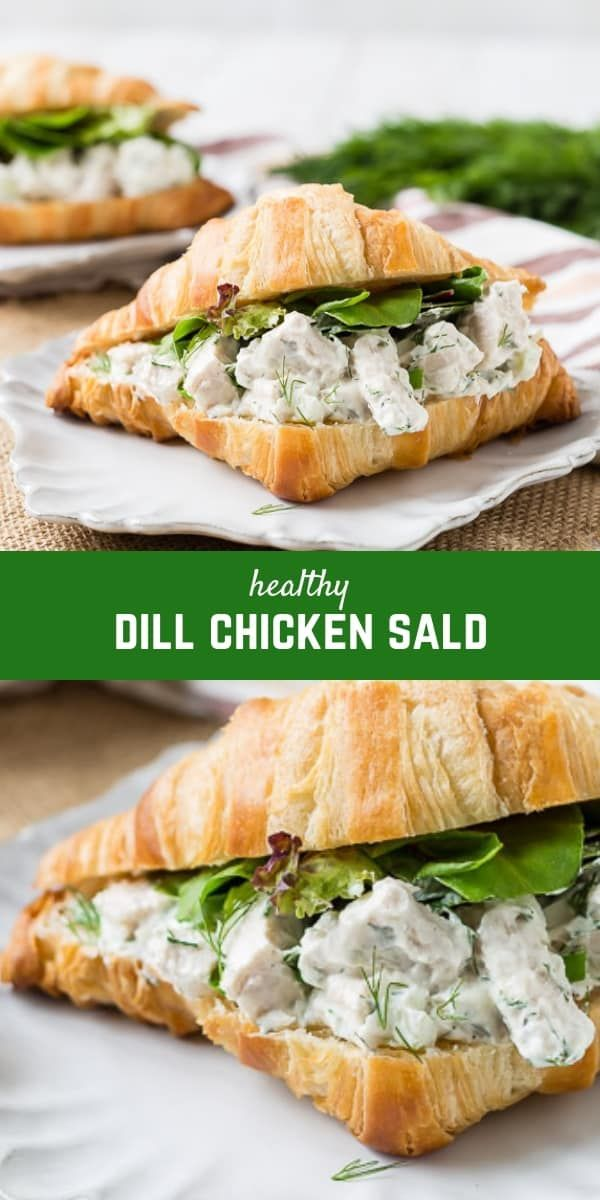 dill chicken salad  healthy and easy  recipe  dill