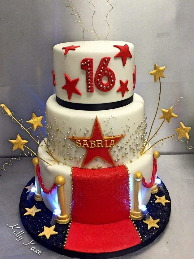 Astounding Hollywood Theme With Images Hollywood Party Cake Funny Birthday Cards Online Elaedamsfinfo