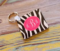 Never lose your keys again with Suddenly Pink's monogramed keychains. Our personalized key rings are made of a hard plastic and printed on both sides with the design of your choice. Our monogram keychain measures 2 in x 2 in and makes a perfect personalized graduation or sweet sixteen gift and a perfect stocking stuffer for any stylish gal pal on your list.