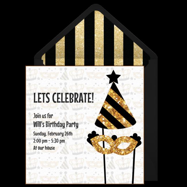 Free Mardi Gras Birthday Invitations