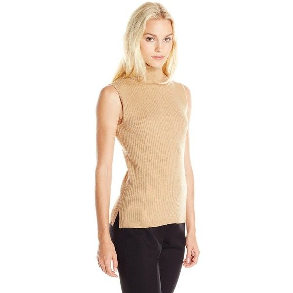 59a1046f836e7d Vince Camuto Women s Sleeveless Turtleneck Ribbed Sweater ( 79) ❤ liked on Polyvore  featuring tops