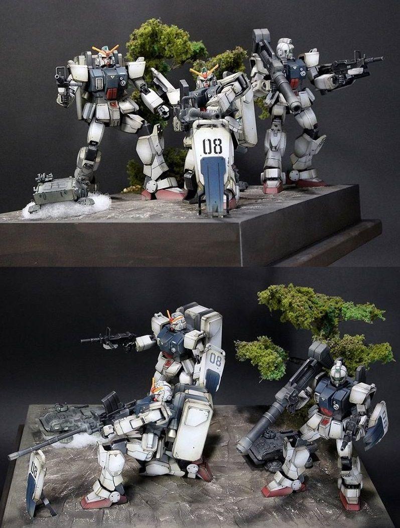 Matever 1 5 Gunpla 1 144 Diorama The 08th Ms Team Weathering Finish Full Photoreview Big Size Images Http Www Gunjap Net S Gundam Model Gundam Art Gundam