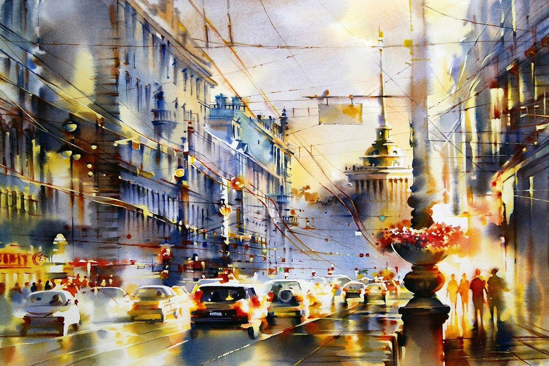 Wonderful watercolors by artist Olga Litvinenko.   From: https://www.facebook.com/BestGuidesSPb/posts/1477243502349234
