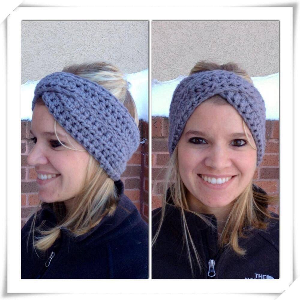 Adult Crossover Winter Headband Womens Winter Accessory Twisted ...