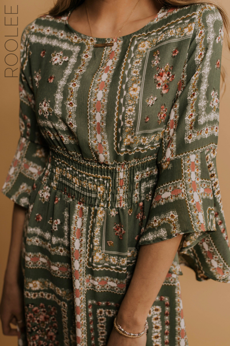 Boho Chic Dress Outfit Ideas Spring 2019 Fashion Trends Cute Modest Church Dress For Women Easter Dress Outfit Ide Boho Chic Dress Clothes Chic Dress Outfit [ 1102 x 735 Pixel ]