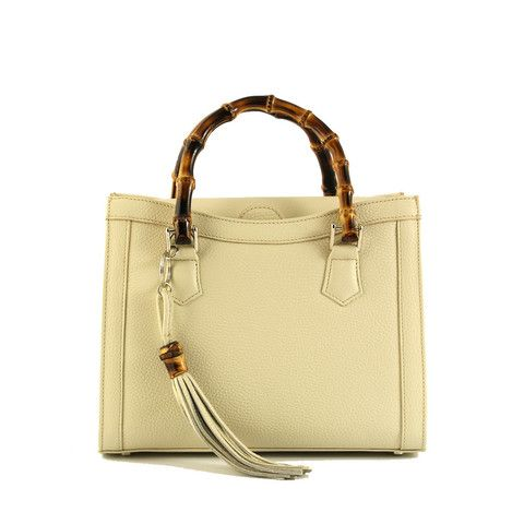 Buti Premium Beige Leather With An Iconic Design Handbags Madeinitaly
