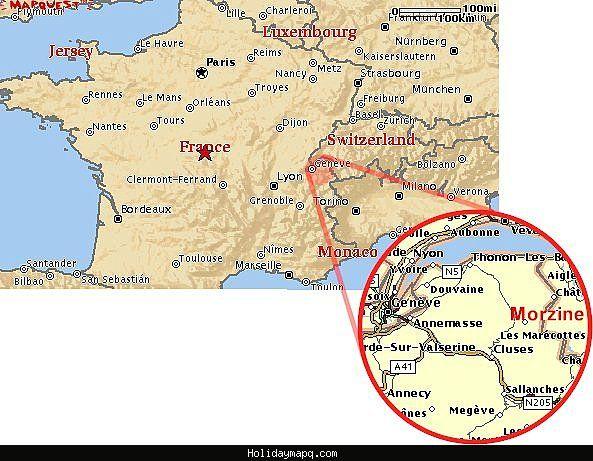 Map of Morzine httpholidaymapqcommapofmorzinehtml