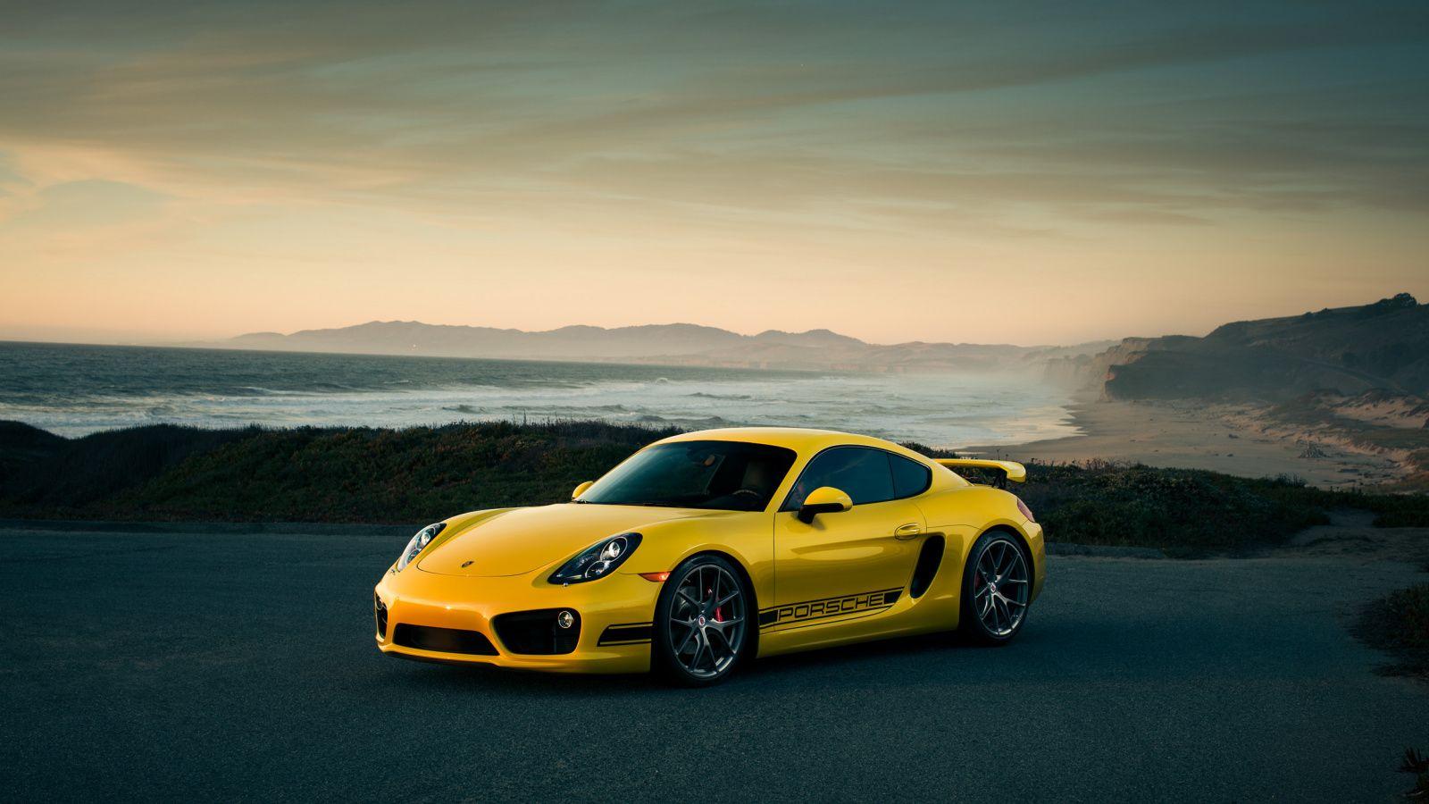 1600x900 Porsche Cayman Yellow Car Off Road Wallpaper Yellow Car Road Wallpaper Offroad