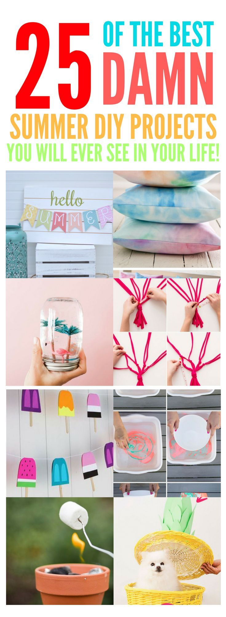 25 super fun summer crafts for kids diy gegen langeweile in den ferien pinterest sommer. Black Bedroom Furniture Sets. Home Design Ideas
