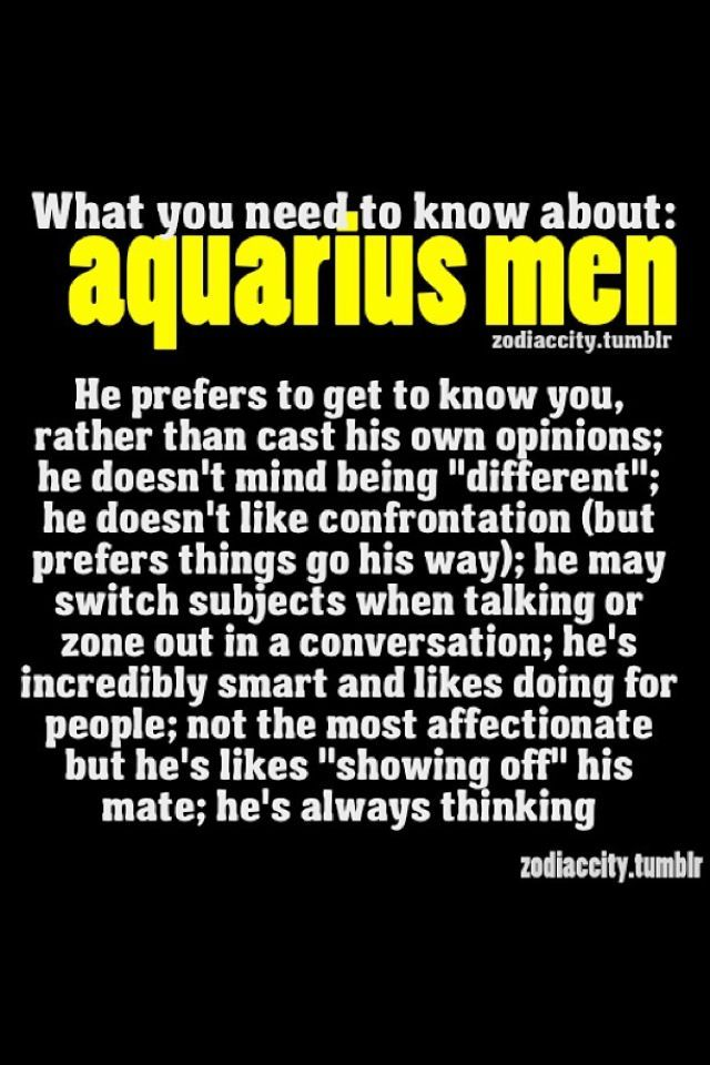 About aquarius men