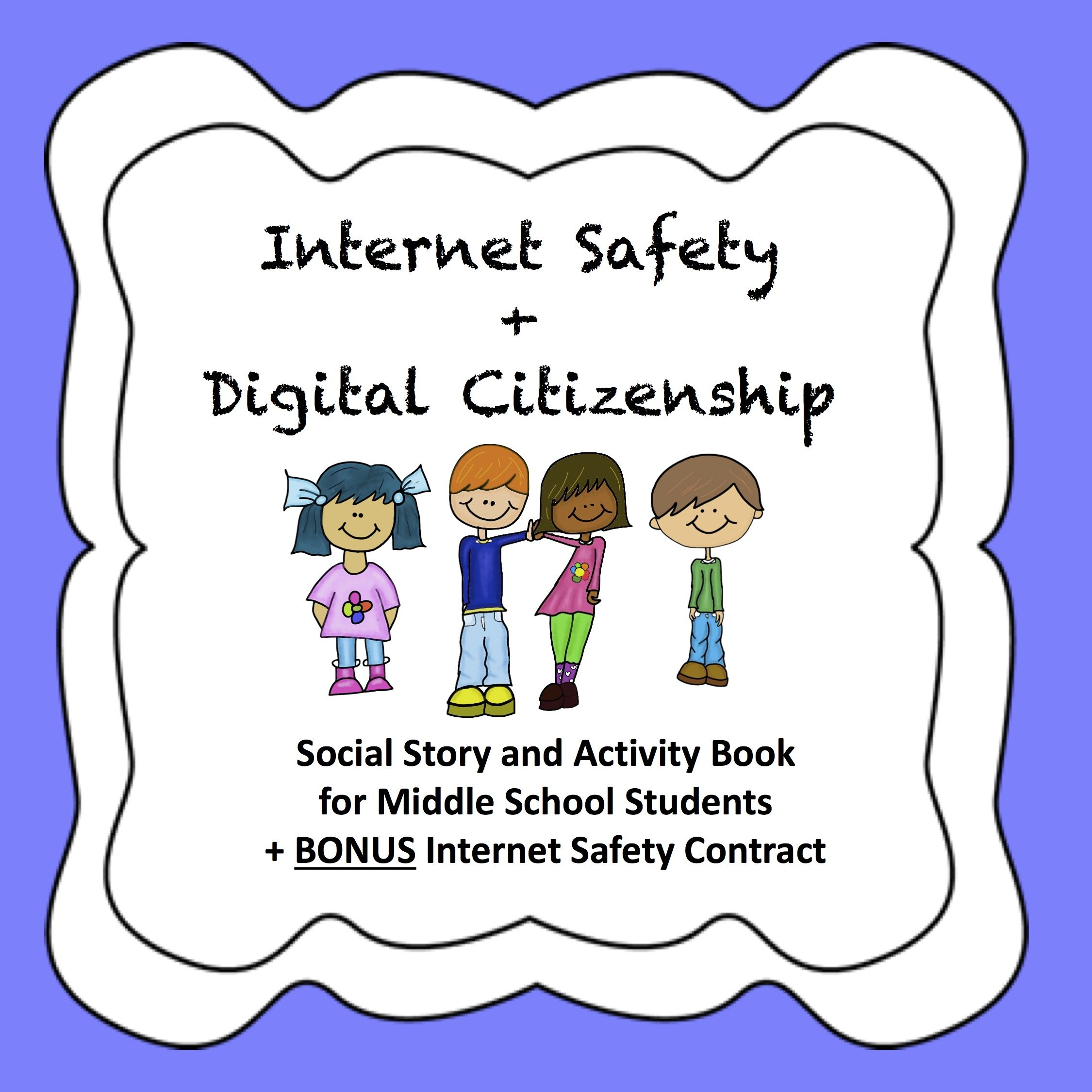 Safety Social Story + Activity Book for Middle