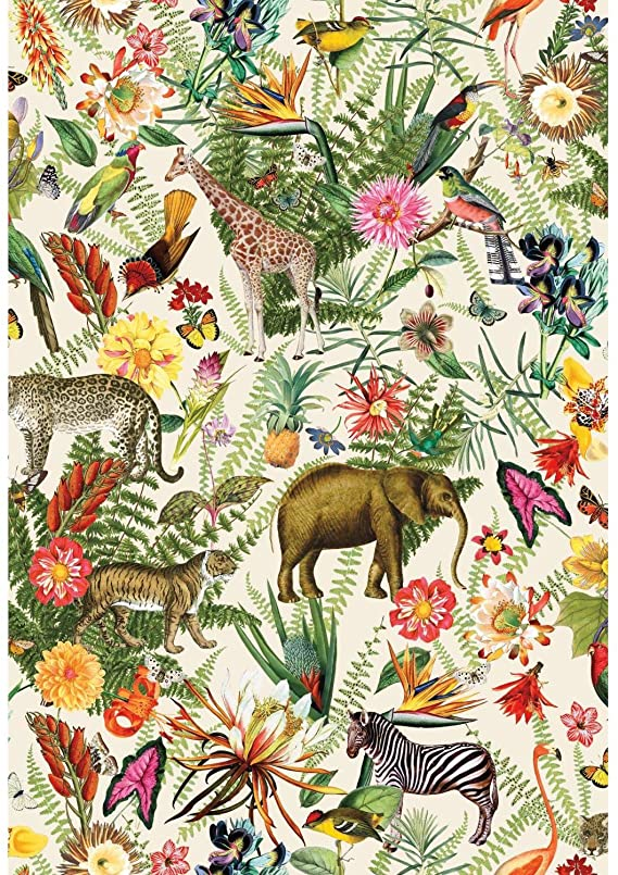 Roommates Tropical Zoo Peel And Stick Wallpaper Amazon Com In 2020 Peel And Stick Wallpaper Temporary Decorating Peel And Stick Vinyl