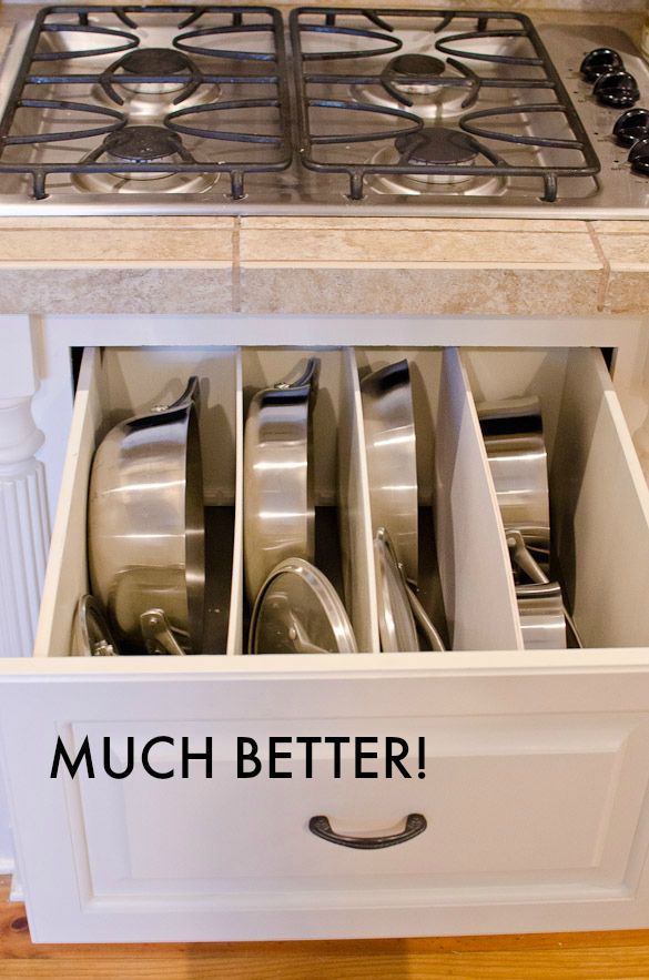 spring cleaning diy organized pots pans drawer kitchen cabinet remodel kitchen cabinet on kitchen organization pots and pans id=74315