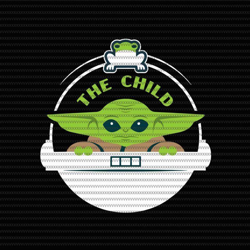 Star Wars The Mandalorian The Child Floating Pod Frog Snack Svg Png Dxf Eps File Tshirt Design Vector Yoda Png Disney Minimalist Star Wars Baby