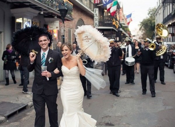 New Orleans French Quarter Wedding At Place D Armes With Celebration Second Line Parade Second Line Parade French Quarter Weddings New Orleans Wedding