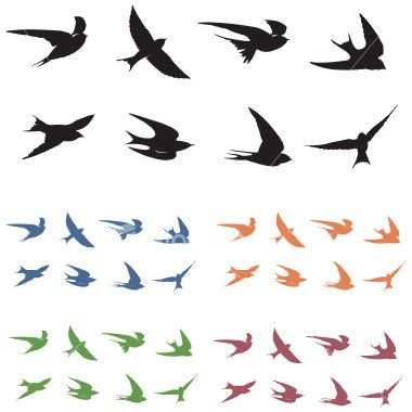 Template For Oftenly Awesome Birds Small Bird Tattoos Flying