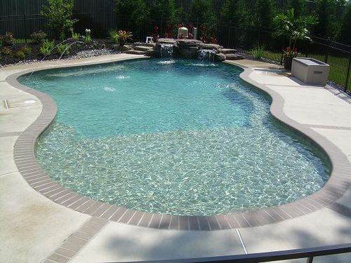 Odenton pool with tanning ledge pool pool remodel for Pool design with tanning ledge