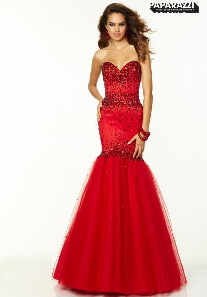 Red Dress Mori Lee Mermaid