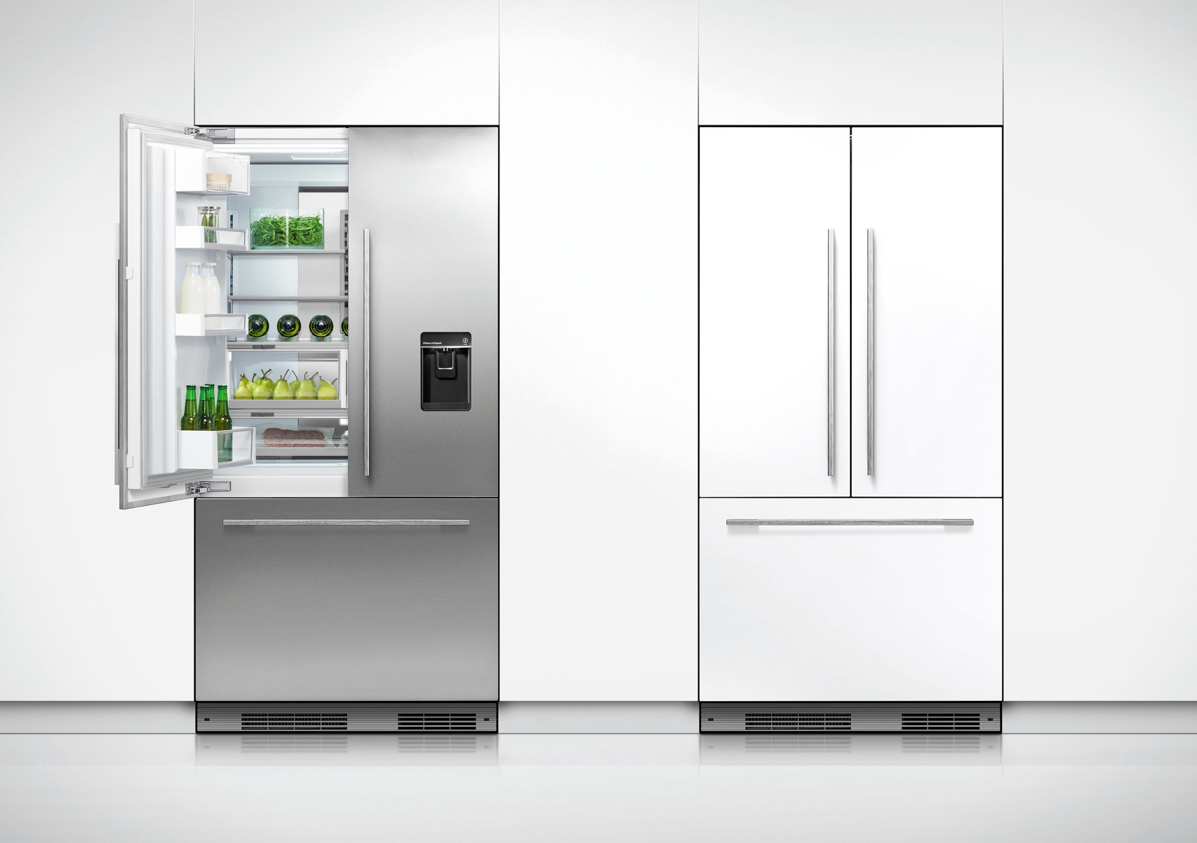 Activesmart Slide In Fridge Best Awards Integrated Fridge Tall Cabinet Storage French Doors