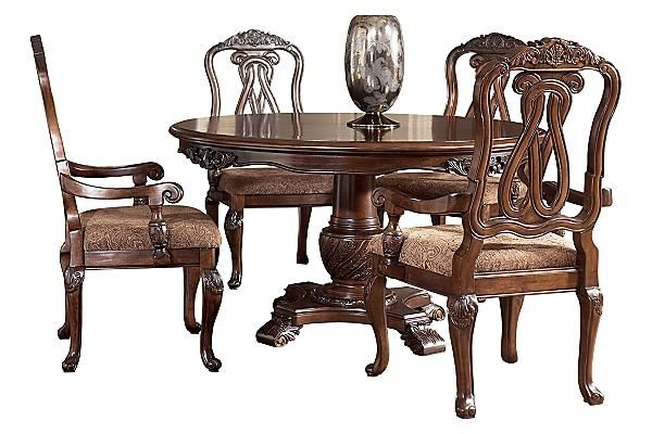 The North Shore Dining Table From Ashley Furniture Homestore Http Www Mmfurniture Com Nor Round Dining Room Sets Round Dining Room Traditional Dining Rooms