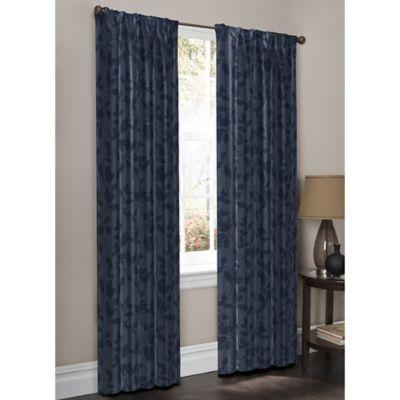 Wraparound Moore Print Window Curtain Panel Pair