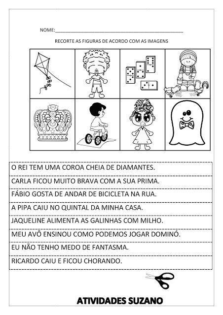 Trabalhando Frases Atividades Pedagogica Suzano Atividades