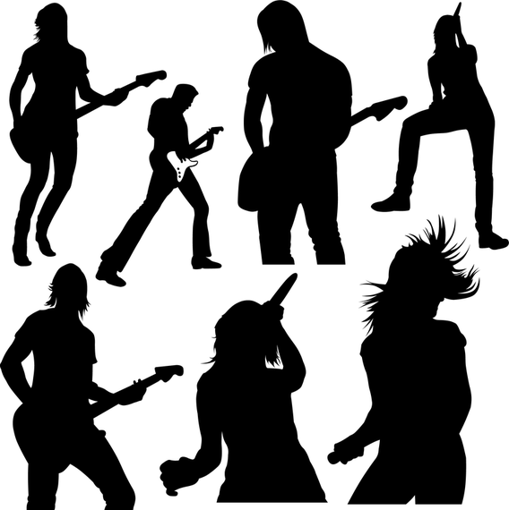 Live Music Ad Sponsored Aff Music Live Rock Music Live Music Silhouette