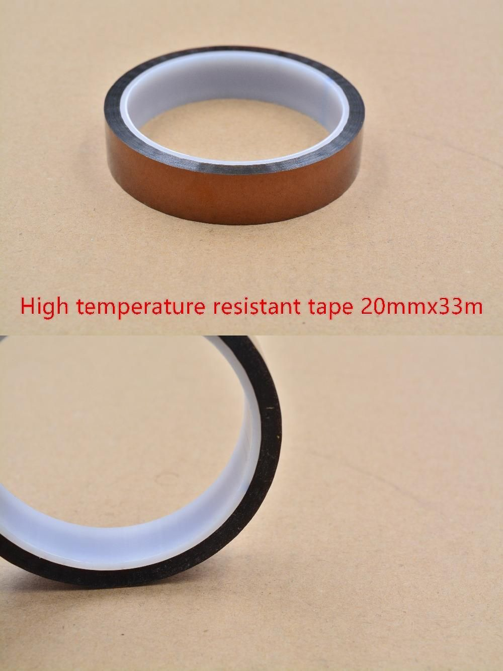 1.86US $ |LINK CNC 3d printer plate heat resistant high temperature polyimide adhesive insulation solder mask 20mmx33m thickness 0.05mm|3d printer adhesive|thick  - AliExpress