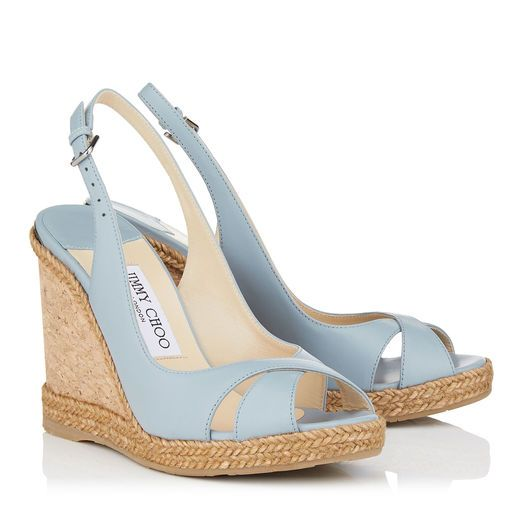 bc6824f446f6 Jimmy Choo AMELY 105 Leather Wedges
