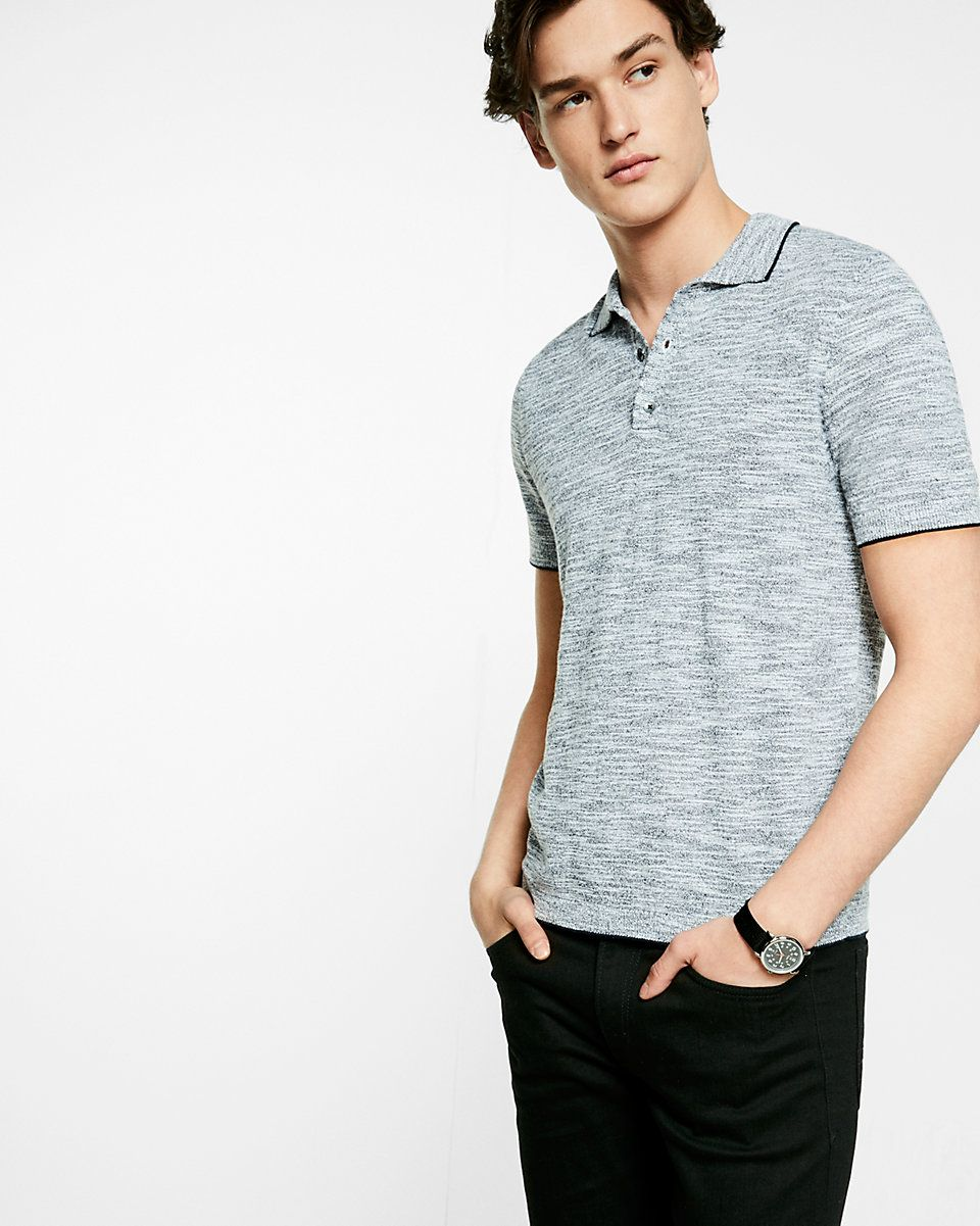 marled short sleeve sweater polo | Sweaters & Knits | Pinterest