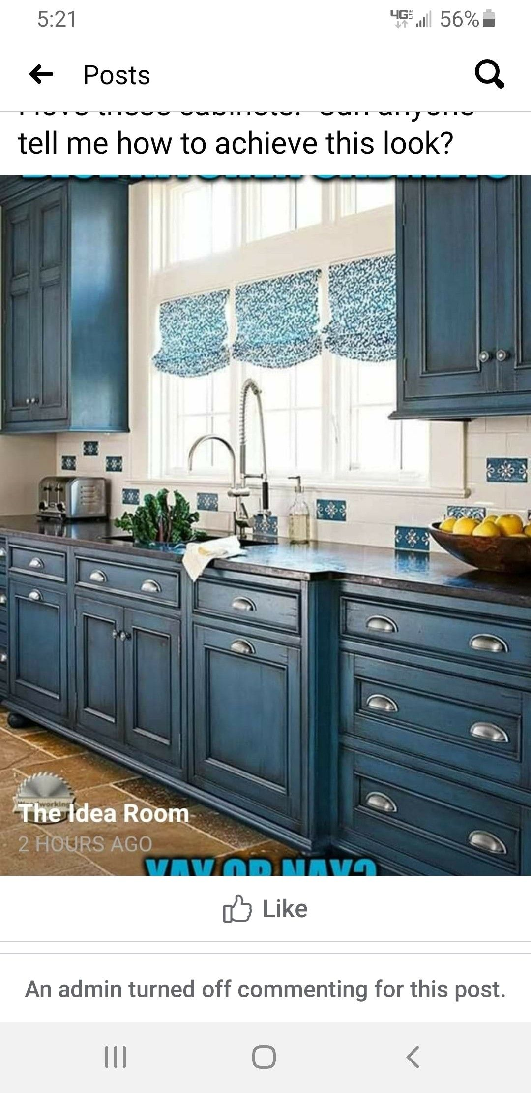 Pin By Staci Hood On Kitchen In 2020 Cottage Kitchen Design Blue Kitchen Cabinets Beautiful Kitchen Cabinets