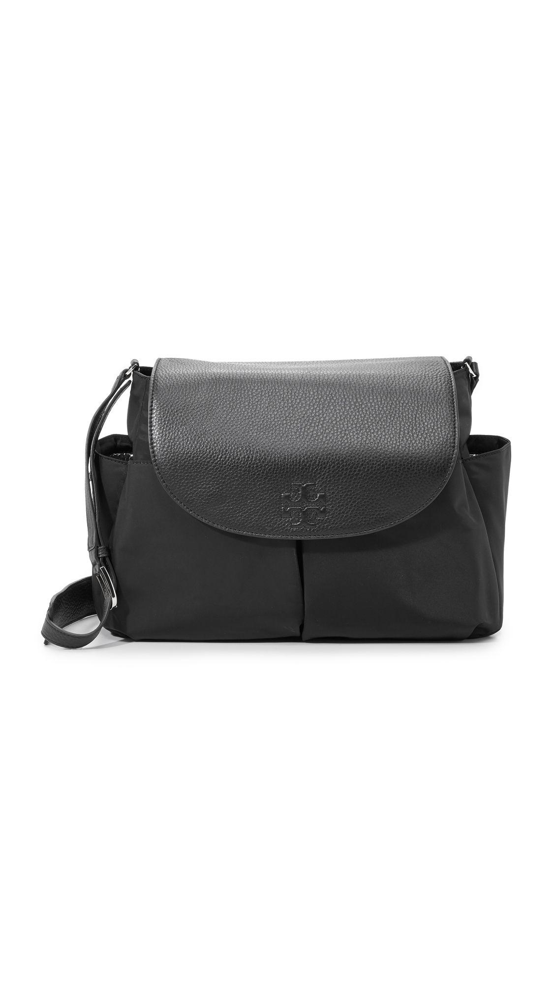 26d55d3d10 Tory Burch Thea Nylon Diaper Bag | Maternity Style | Bags, Baby ...