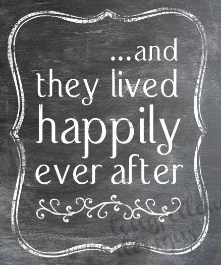 And They Lived Happily Ever After Fairy Tale Ending Chalkboard