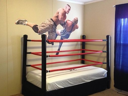 Wrestling Bedroom Decor Glamorous How To Make A Diy Wwe Wrestling Bed Under $100  Recipe  Kids Design Inspiration