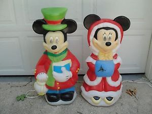 Blow Mold Christmas Yard Decorations.34 Disney Mickey Minnie Mouse Lighted Christmas Outdoor