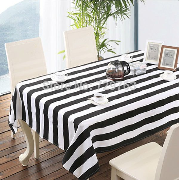 Cheap Tablecloth Square, Buy Quality Tablecloth Round Directly From China  Tablecloths For Card Tables Suppliers: Black And White Striped Tablecloth  Dining ...
